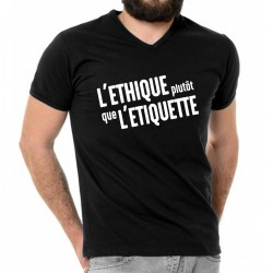 """T-shirt homme """"L'éthique..."""