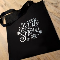 "Sac tote bag ""Let it snow"""