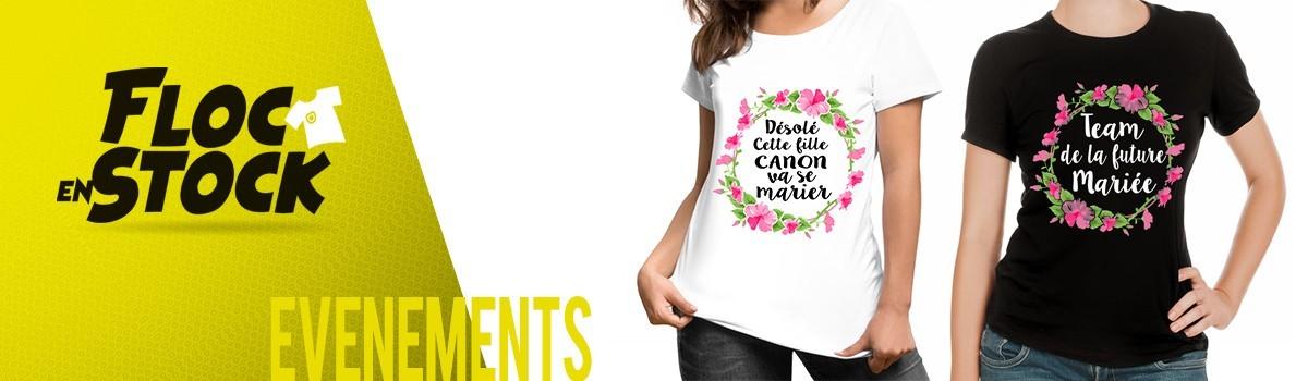 T-shirt Enterrement de Vie de Jeune Fille modèle fleurs